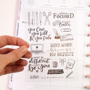 Daily Work Motivation Sticker Sheet Design by Willwa