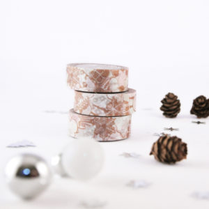 Gingerbread Cookies Washi Tape - Design by Willwa