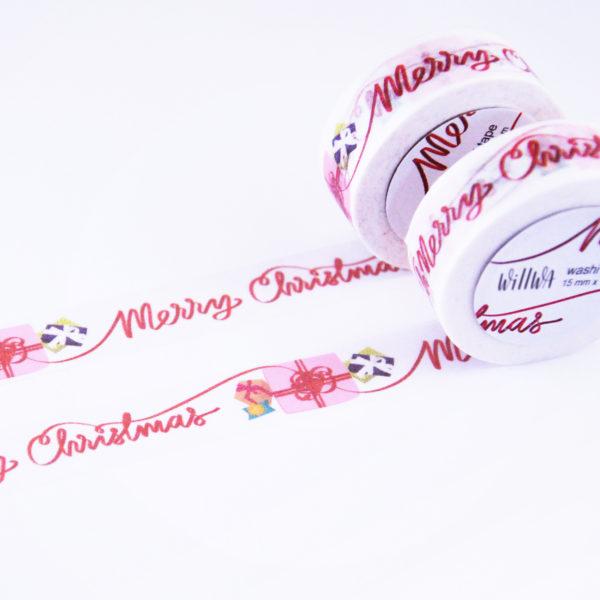 Merry Christmas Washi Tape - Design by Willwa