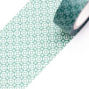 Green Mosaic Washi Tape - Design by Willwa