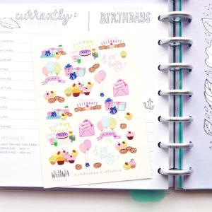 Celebration Stickers - Design by Willwa