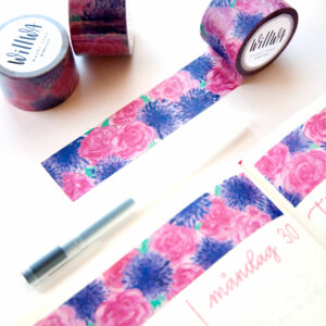 Ocean of Flowers Washi Tape - Design by Willwa