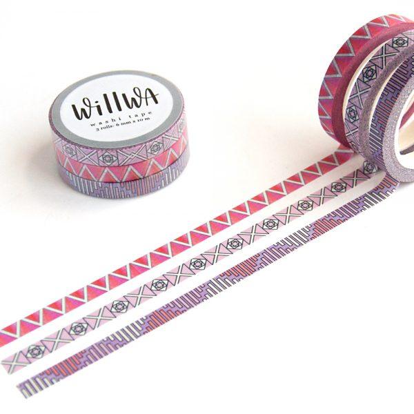 Slim Graphic washi tape set 8
