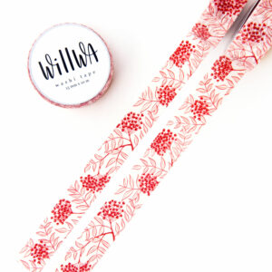 Rowan Berries Washi Tape - Design by Willwa