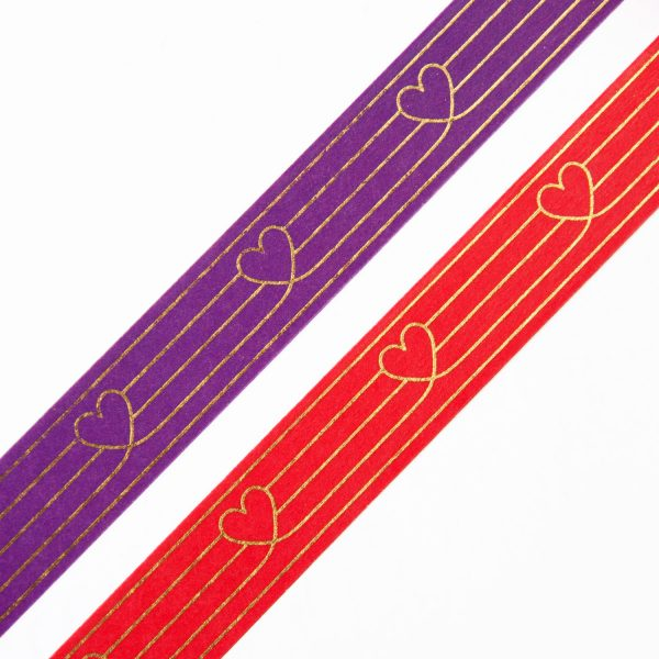 Red & Purple Heart to Heart Design by Willwa