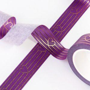 Purple Heart to Heart Design by Willwa