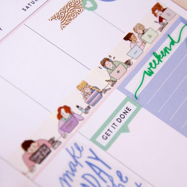 Computer Date Washi Tape - Design by Willwa