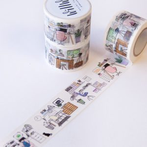 Where I Work Washi Tape - Design by Willwa