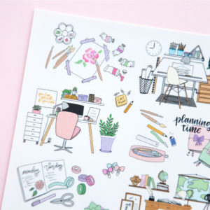 My Working Place Sticker Sheet - Design by Willwa