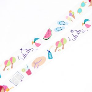 Beach Necessities Washi Tape - Design by Willwa