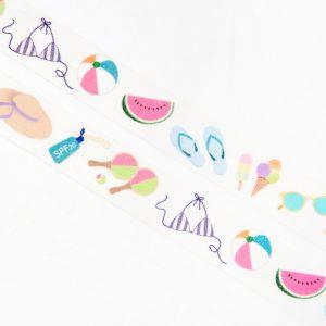 Beach Necessities Washi Tape - Design by Willwa