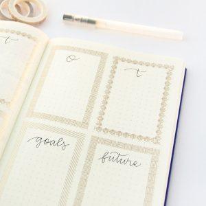 Gold Line Slim Washi Tape Set design by Willwa 7