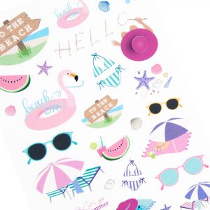 Day at the Beach Sticker Sheet - Design by Willwa