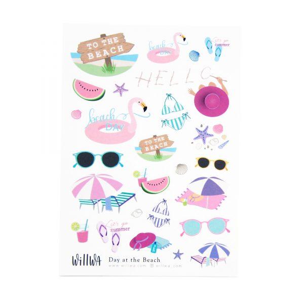 Day at the Beach Sticker Sheet - Design by Willwa