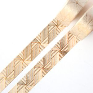 Gold Linjar Spiral washi tape design by Willwa 1