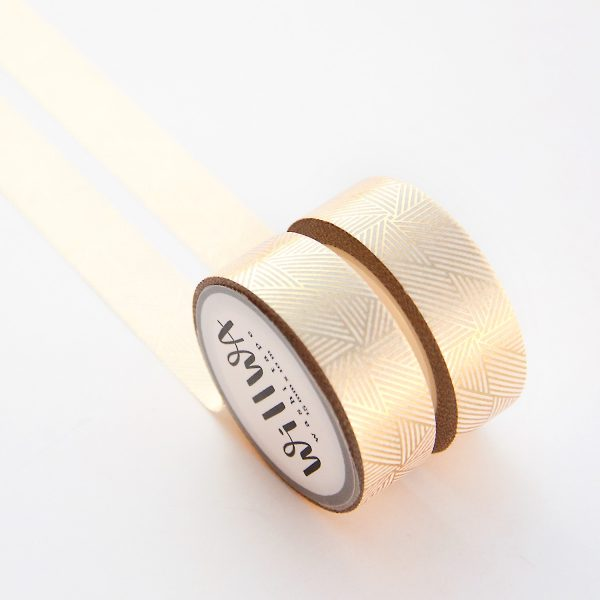Gold Linjar Spiral washi tape design by Willwa 2