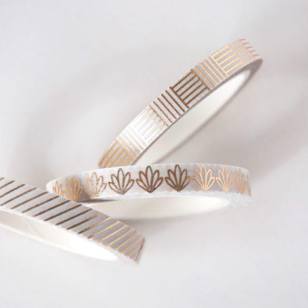 Gold Line Slim Washi Tape Set design by Willwa 10