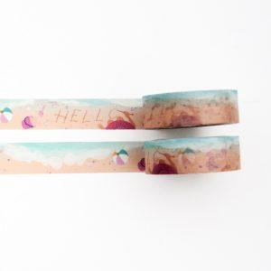 Serene Waves Washi Tape - Design by Willwa