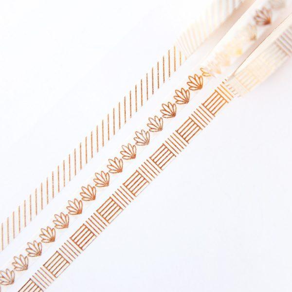 Gold Line Slim Washi Tape Set design by Willwa 1
