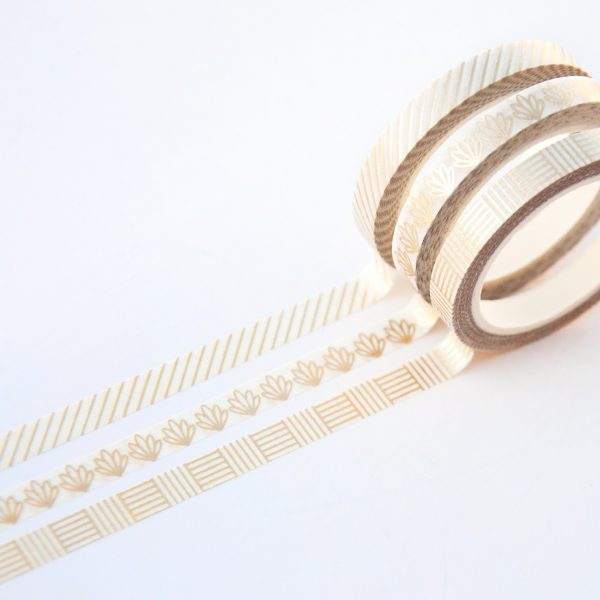 Gold Line Slim Washi Tape Set design by Willwa 2