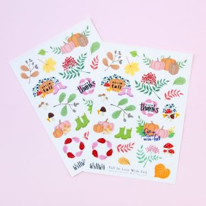 Fall in Love with Fall Stickers - Design by Willwa