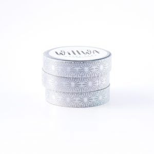 Silver Flora Lace Washi Tape - Design by Willwa
