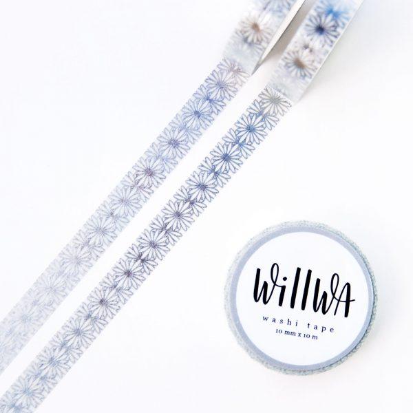 Silver Flora Lace Washi Tape - Design by Willwa
