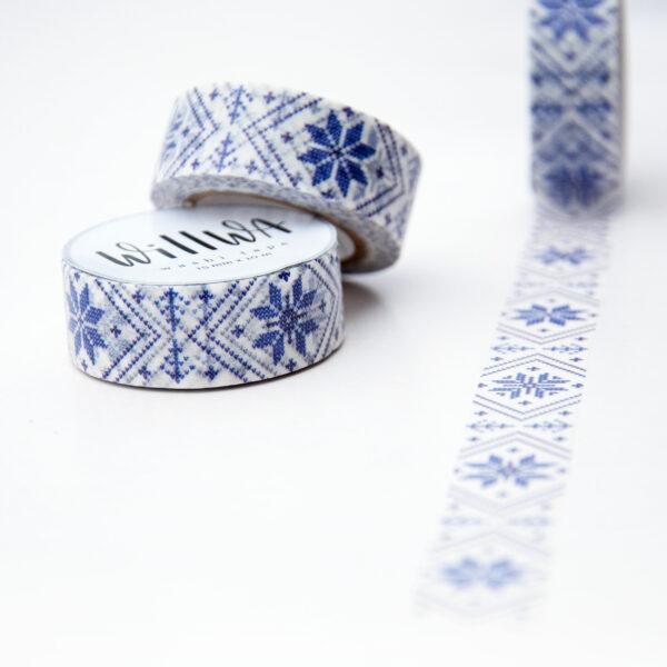 Swedish Knitted Stars Washi Tape - Design by Willwa