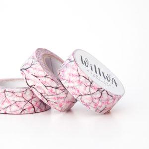 Cherry Blossoms Washi Tape - Design by Willwa