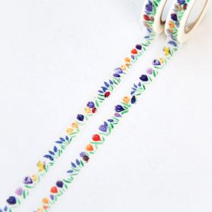 Colorful Spring Garden Washi Tape - Design by Willwa