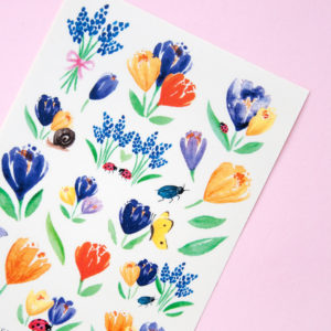 Crocus Flower Garden Stickers - Design by Willwa