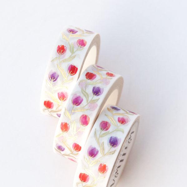 Dainty Tulips Washi Tape - Design by Willwa