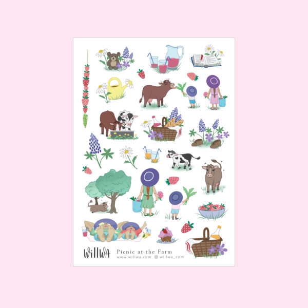 Picnic at the Farm Stickers - Design by Willwa