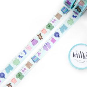 Laundry Line Washi Tape - Design by Willwa
