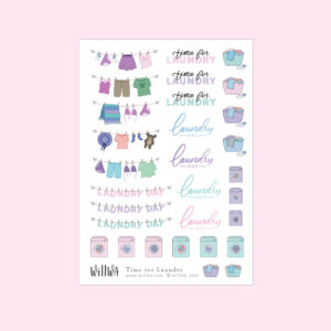 Time for Laundry Stickers - Design by Willwa