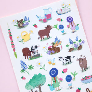 Picnic at the Farm Sticker Sheet - Design by Willwa
