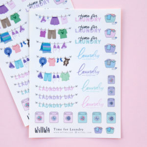 Time for Laundry Sticker Sheet - Design by Willwa