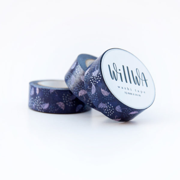 Flying Umbrellas Washi Tape - Design by Willwa
