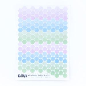Gradient Bullet Points Sticker Sheet - Design by Willwa
