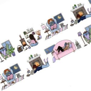 Cozy Reading Weather Washi Tape - Design by Willwa