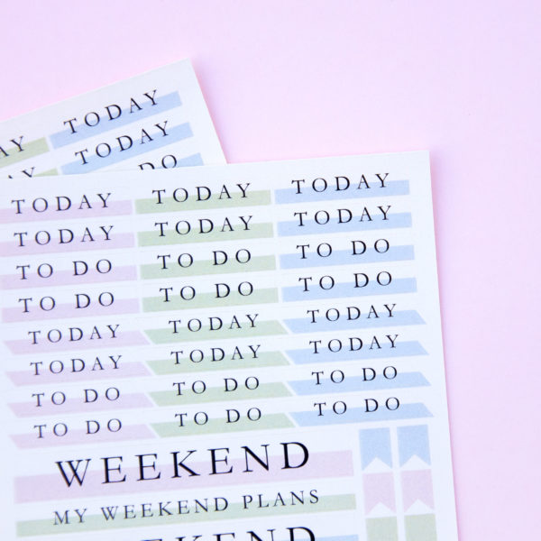 Plans for the Week Sticker Sheet - Design by Willwa