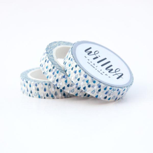 Cute Raindrops Washi Tape - Design by Willwa