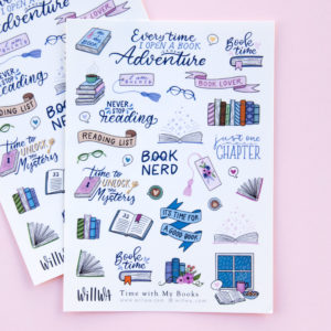 Time with My Books Sticker Sheet - Design by Willwa