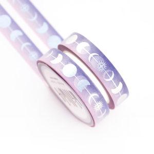 Silver Luna Weather Washi Tape - Design by Willwa