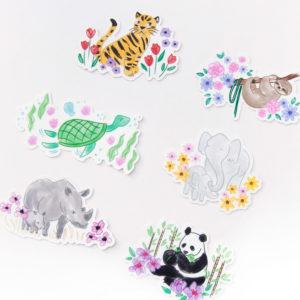 Endangered Animals Sticker Pack - Design by Willwa