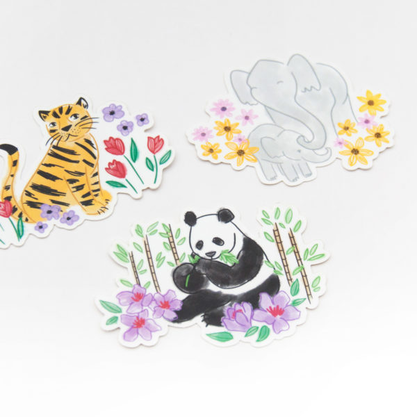 Endangered Animals Stickers - Design by Willwa