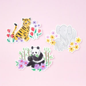 Endangered Animals Stickers - Design by Willwa