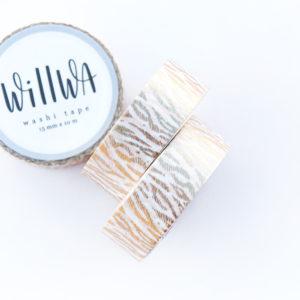 Golden Tiger Fur Washi Tape - Design by Willwa
