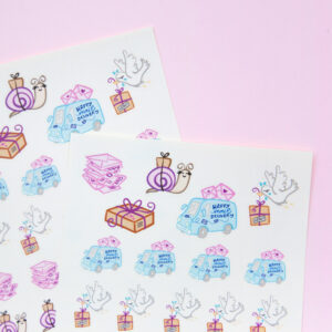 Happy Mail Delivery Sticker Sheet - Design by Willwa