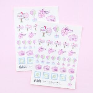 You Got Happy Mail Sticker Sheet - Design by Willwa